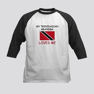 My Trinidadian Grandma Loves Me Kids Baseball Jers