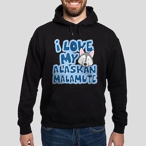 I Love my Alaskan Malamute Hoodie (dark)
