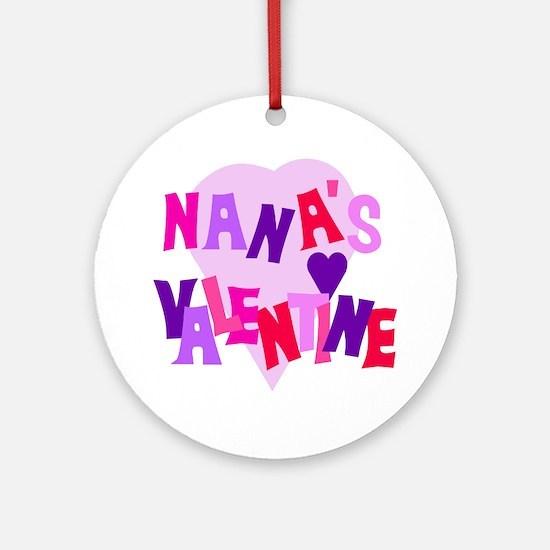 Nana's Valentine Ornament (Round)