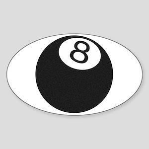 Riyah-Li Designs 8 Ball Oval Sticker