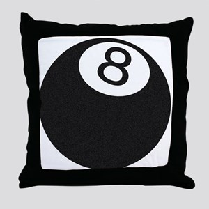 Riyah-Li Designs 8 Ball Throw Pillow