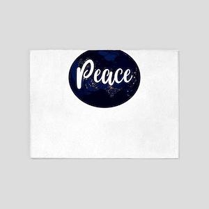 Save the Earth Peace Night Earth 5'x7'Area Rug