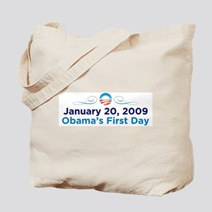 1-20-09: Obama's First Day Tote Bag