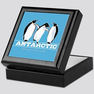 Penguin Swimming Keepsake Box