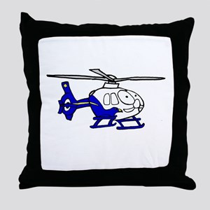 EMS Helicopter3 Throw Pillow