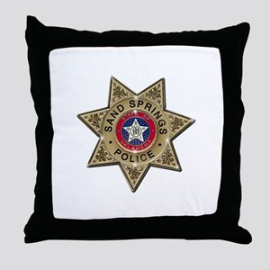 Sand Springs Police Throw Pillow