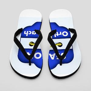 Ortley Beach Season Badge Flip Flops