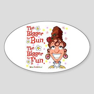 The Bigger the Bun Oval Sticker (10 pk)