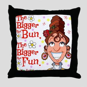 The Bigger the Bun Throw Pillow