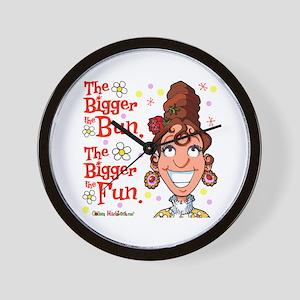 The Bigger the Bun Wall Clock