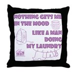 Man Doing My Laundry Throw Pillow