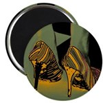 "Tacky Shoes Art 2.25"" Magnet (10 pack)"
