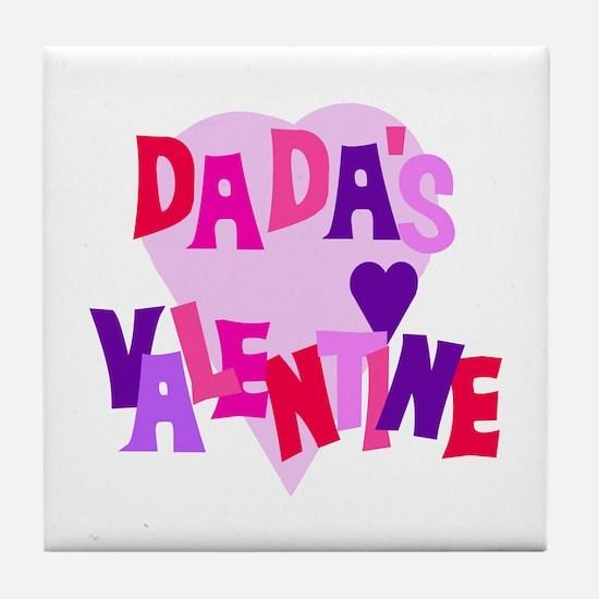 Dada's Valentine Tile Coaster