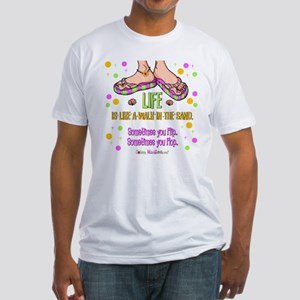 Life is like a walk in the sand Fitted T-Shirt