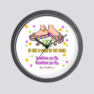 Life is like a walk in the sand Wall Clock