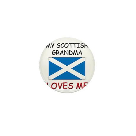 My Scottish Grandma Loves Me Mini Button