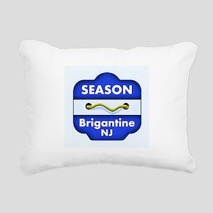 Brigantine Season Badge Rectangular Canvas Pillow