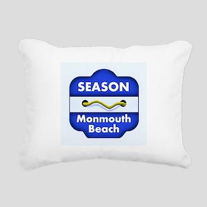 Monmouth Beach Season Badge Rectangular Canvas Pil