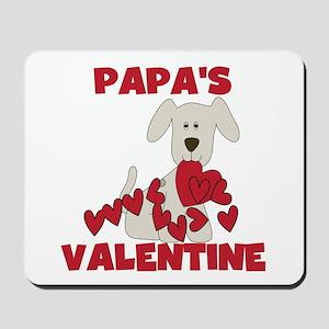Dog Papa's Valentine Mousepad