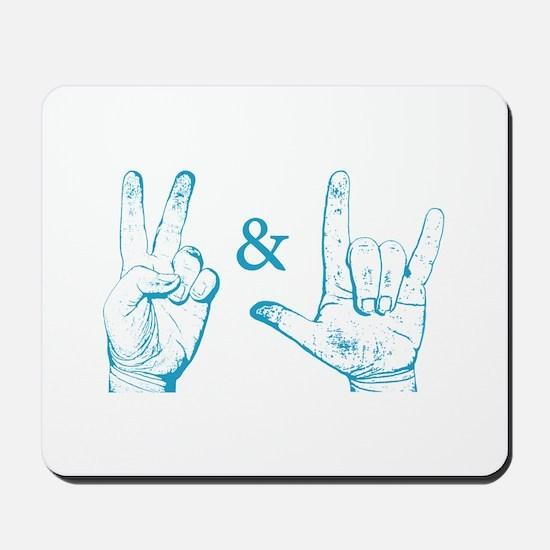 Peace & Love Sign Mousepad