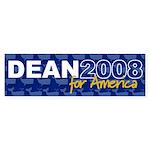 DEAN 2008 FOR AMERICA Bumper Sticker