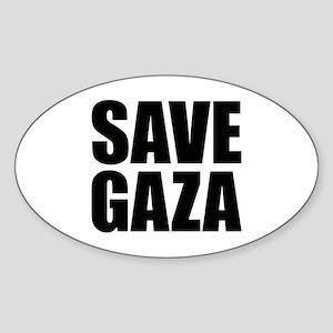 SAVE GAZA Oval Sticker