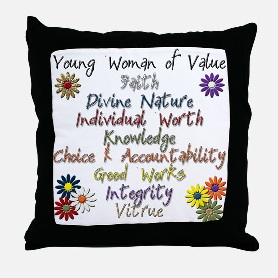 YW of Value Throw Pillow