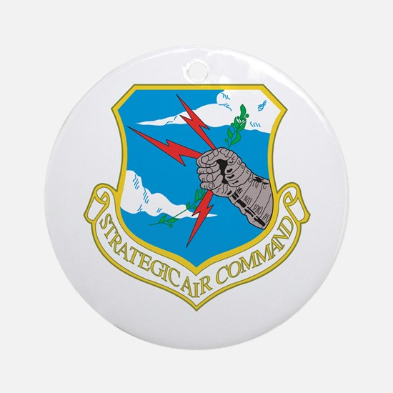 Strategic Air Command Ornament (Round)