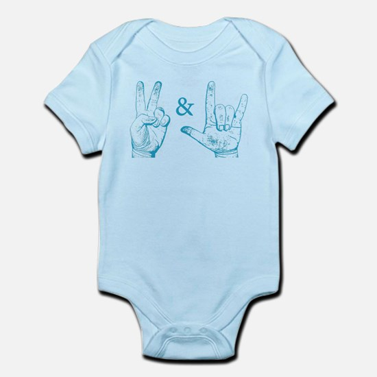 Peace & Love Sign Infant Creeper