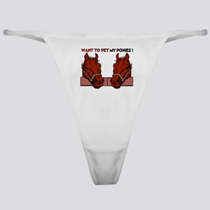 Funny Designs for our times Classic Thong