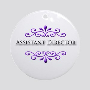 Assistant Director Name Badge Ornament (Round)