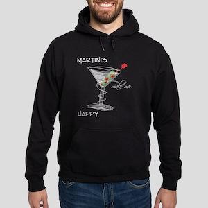 Martinis Make Me Happy Hoodie (dark)
