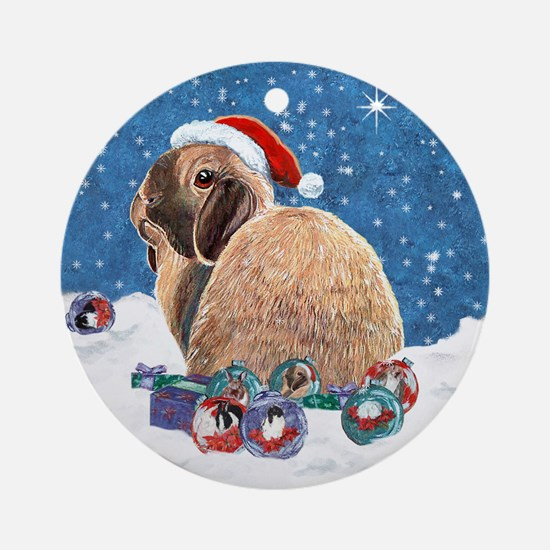 Rabbit Christmas Ornament (Round)