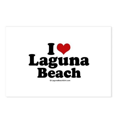 I Love Laguna Beach ~ Postcards (Package of 8)