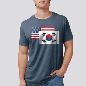 American And South Korean Flag T-Shirt