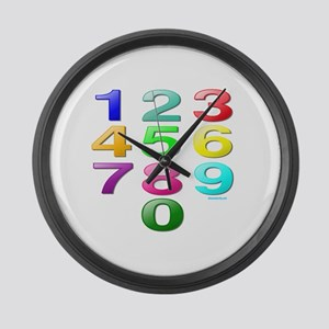 COUNTING/NUMBERS Large Wall Clock