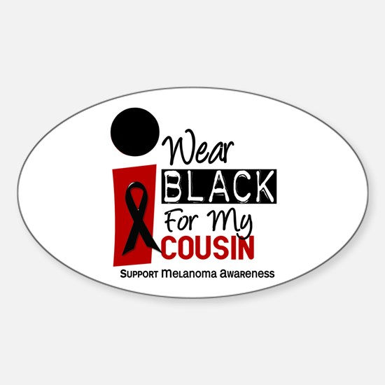 I Wear Black For My Cousin 9 Oval Decal