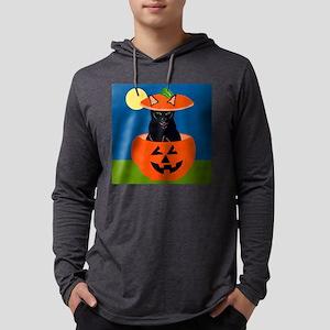 Halloween Cat in Pumpkin Long Sleeve T-Shirt