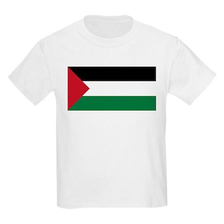 Flag of Palestine Kids Light T-Shirt