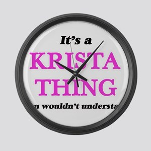 It's a Krista thing, you woul Large Wall Clock