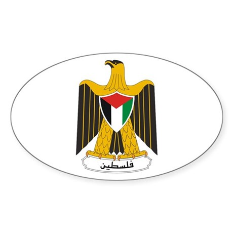 Palestinian Coat of Arms Oval Sticker