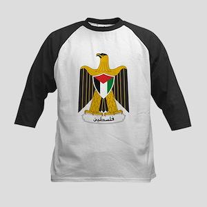 Palestinian Coat of Arms Kids Baseball Jersey