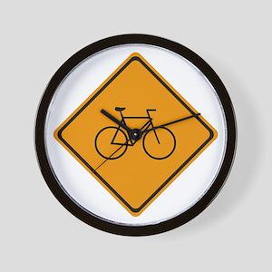 Caution: Bike Zone Wall Clock