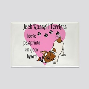 Jack Russell Terrier Pawprints Rectangle Magnet