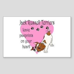 Jack Russell Terrier Pawprints Sticker (Rectangula