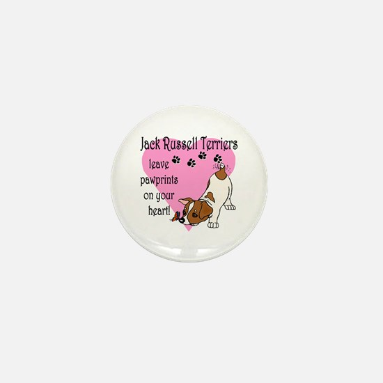 Jack Russell Terrier Pawprints Mini Button