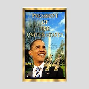"""Obama Inauguration"" Rectangle Sticker"