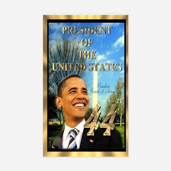"""Obama Inauguration"" Rectangle Decal"