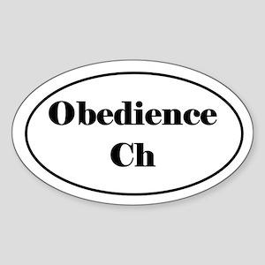 Obedience Champion Sticker