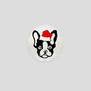 French Bulldog Santa1 Mini Button